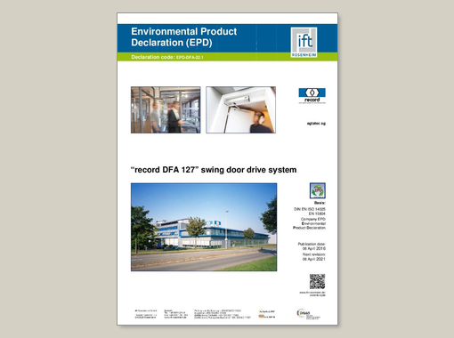 Environmetal Product Declaration record DFA 127