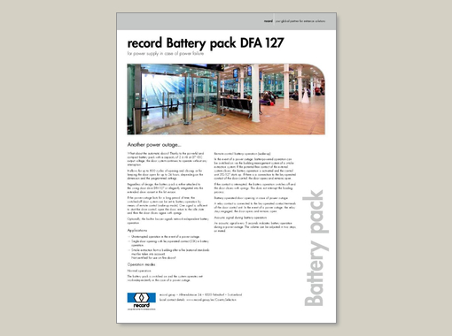 record Battery pack DFA 127