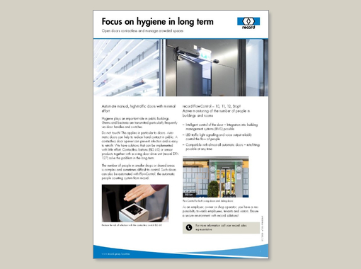 Focus on hygiene in long term