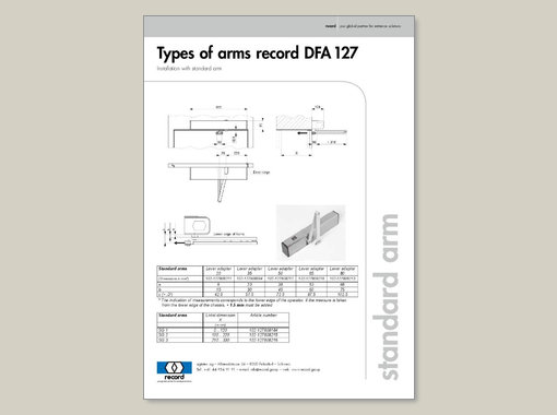 Types of arms record DFA 127